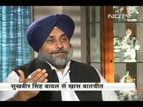 EXCERPTS OF SUKHBIR SINGH BADAL'S INTERACTION WITH ABHIGYAN PRAKASH (EXECUTIVE EDITOR NDTV)