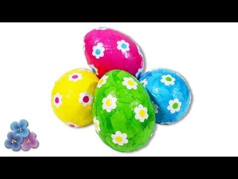 Como Hacer Huevos de Pascua FACIL con Decoupage!! Manualidades Fáciles 2014 Pin