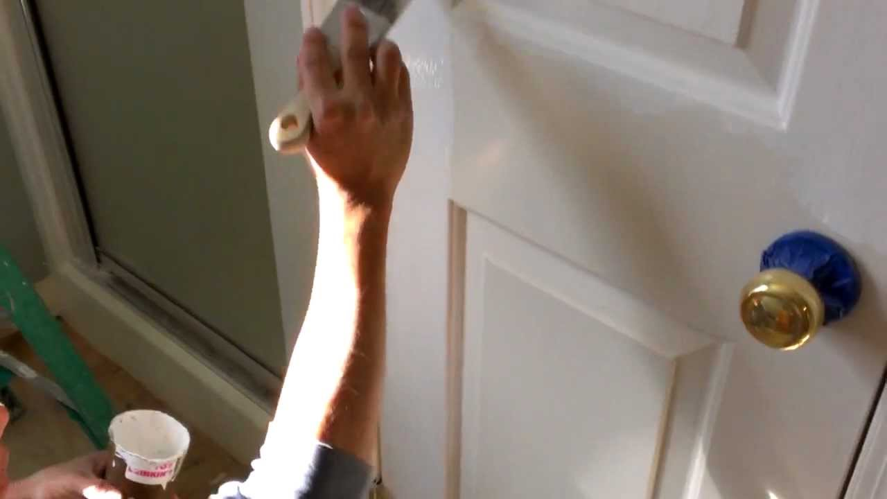 Como pintar una puerta youtube - Pintura puertas madera ...