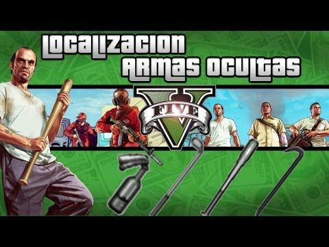 GTA V Localizacion armas ocultas Palo de Golf, Bate, Palanca y Coctel Molotov