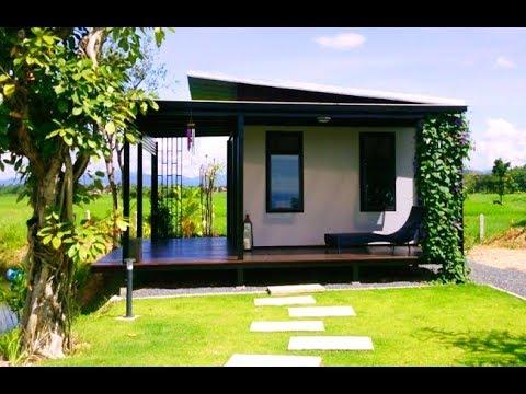 แบบบ้านชั้นเดียวโครงสร้างเหล็ก หลังเล็ก บ้านสวน สร้างบ้านตากอากาศแบบประหยัดเวลา