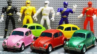 Transformers Stop motion - Bumblebee, Barricade, Power Rangers Movie Repaint Beetle Car Robot Toys