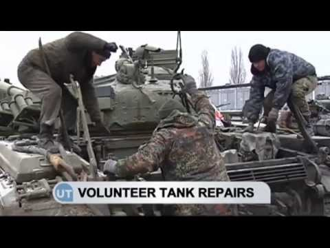 Ukrainian Tanks Repaired: Mykolaiv volunteers renovate tanks damaged in east Ukraine conflict