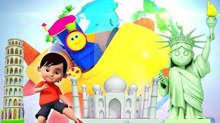 Bob xe lửa | vòng quanh thế giới | vần trong tiếng việt | Bob Around The World | Kids Tv Vietnam