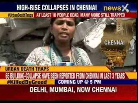 11- storey under construction building collapse in Chennai