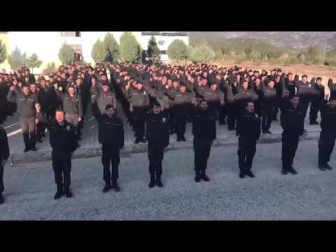 Türkiye çok yaşa, Erdoğan çok yaşa diyen Suriye polis teşkilatı...