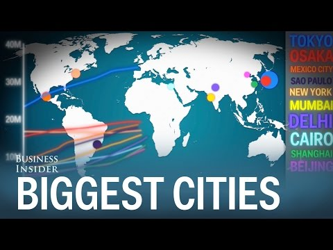 How the world's biggest cities have grown