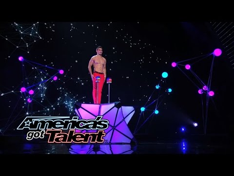 Christian Stoinev: Shirtless Hand Balancer Brings Back Dancing Dog - America's Got Talent 2014