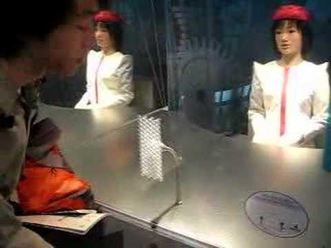 Actroid creepy robot receptionist
