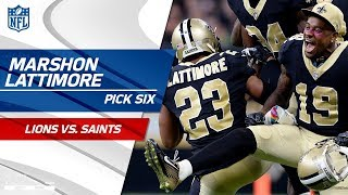 Marshon Lattimore's Huge Pick 6 Off Stafford's Tipped Pass! | Lions vs. Saints | NFL Wk 6 Highlights