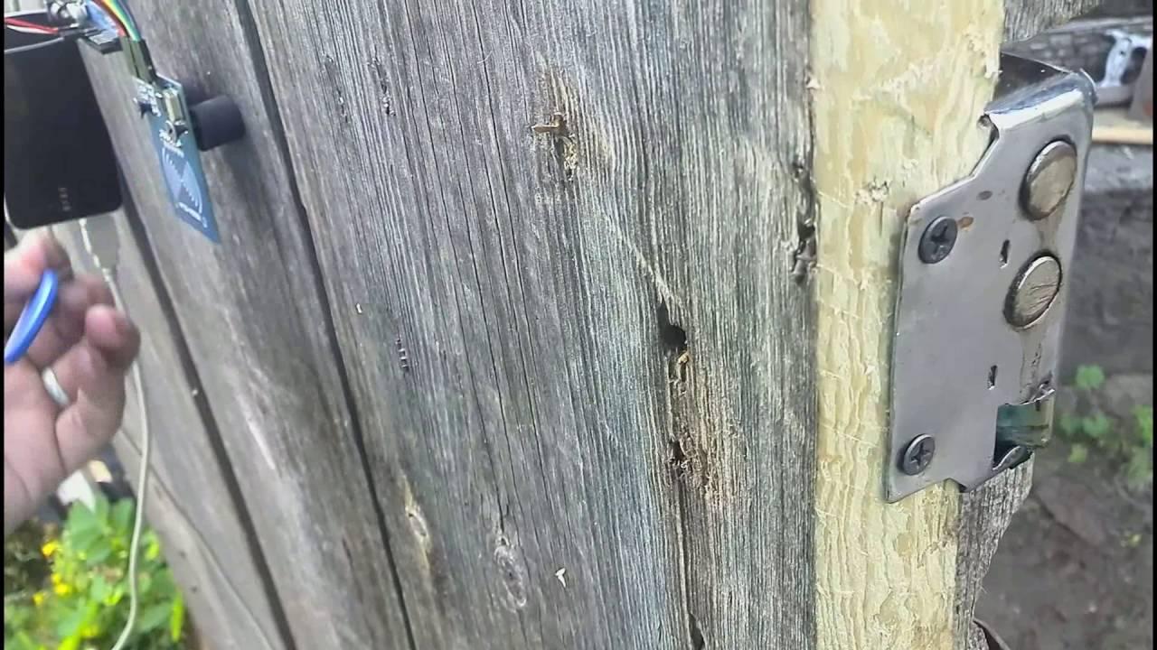 Электрозамок своими руками на ворота 8