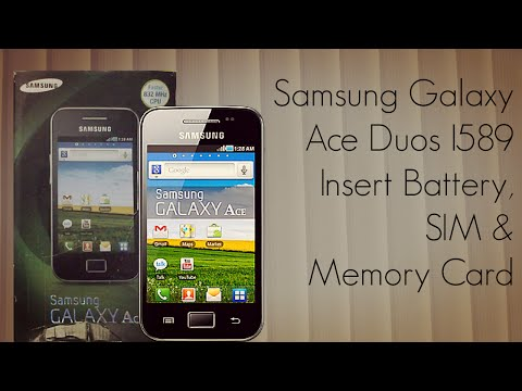 Samsung Galaxy Ace Duos I589 Insert Battery SIM Memory Card - PhoneRadar