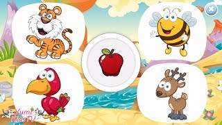 🍎🧀🥜 Feed The Animals 🐹🐨🐷 Baby games for 1 year olds 🐔🐴🐝 Part 2