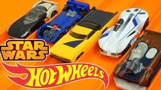 Star Wars Hot Wheels Cars SOLO Speedway Who is the Fastest in the Galaxy?