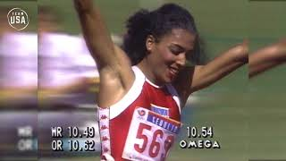 Florence Griffith Joyner Sprints To Gold In Seoul | Gold Medal Moments Presented By HERSHEY'S