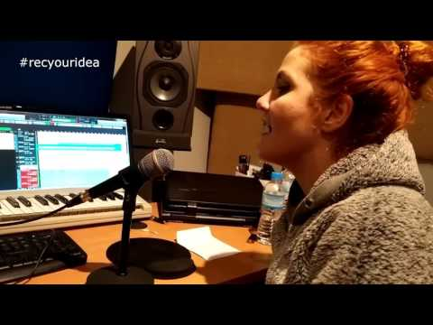 #Recyouridea recording session