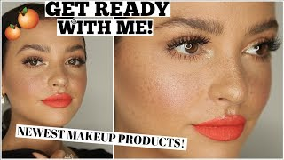 GET READY WITH ME CHIT-CHAT! Orange Blossom Spring Makeup!