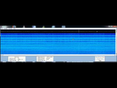 2.12.2012 ELF VLF spectrogram Very Extreme Low Frequency 0 - 22Khz w Sound HAARP ? HD