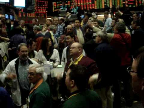 CBOT Trading Soybean market pit trading.