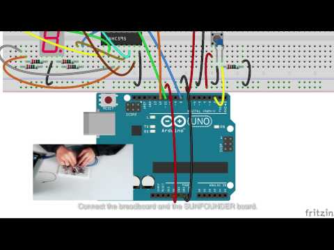 Fritzing Project Arduino 7 Segment Thermometer
