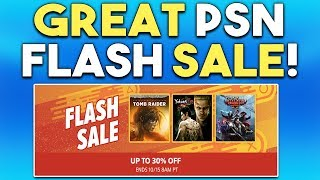 GREAT PSN FLASH SALE RIGHT NOW! Deals on NEW Releases + More!