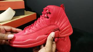 "2018 AIR JORDAN RETRO 12 ""GYM RED"" FIRST LOOK + DETAIL REVIEW...LEATHER OR SUEDE"
