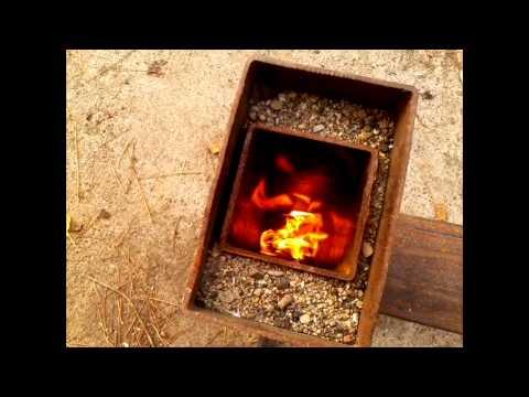 Real rocket stove camping version part 1