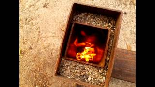 Real rocket stove camping version part 1