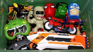 Box of Toys: Action Figures, Cars, Nerf, Marvel and More