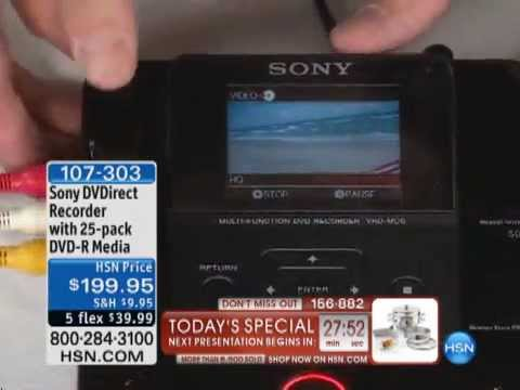 Sony DVDirect Recorder with DVD-R Disc 25-pack