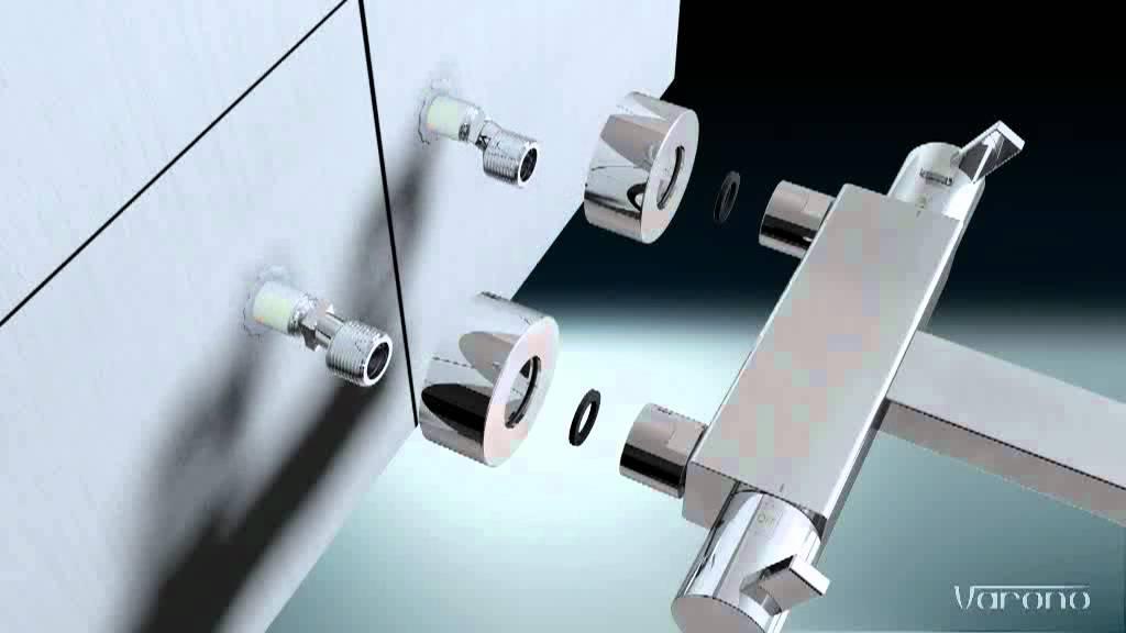 Duscharmatur Montieren : Wie montieren Sie ein Wanne/Brause Set mit Thermostat von Varono