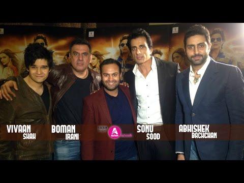 The 'Lads' of Happy New Year; Abhishek Bachchan, Sonu Sood, Vivaan Shah and Boman Irani
