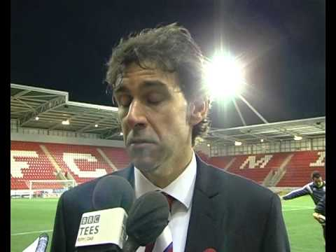 Aitor Karanka's Rotherham reaction