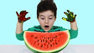 Yusuf Ellerini Yıka! Wash Your Hands-Paints and Watermelon-Fun Kid Video