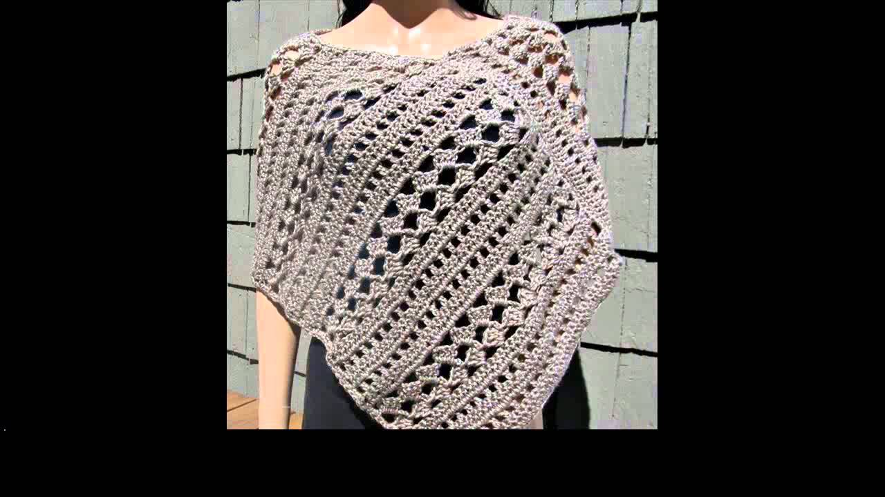 Free Crochet Pattern Poncho With Sleeves : crochet poncho with sleeves - YouTube