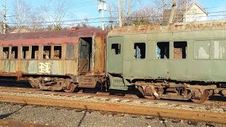 ANOTHER COLLECTION OF BEAUTIFUL OLD VINTAGE TRAIN CARS AWAITING RESTORATION