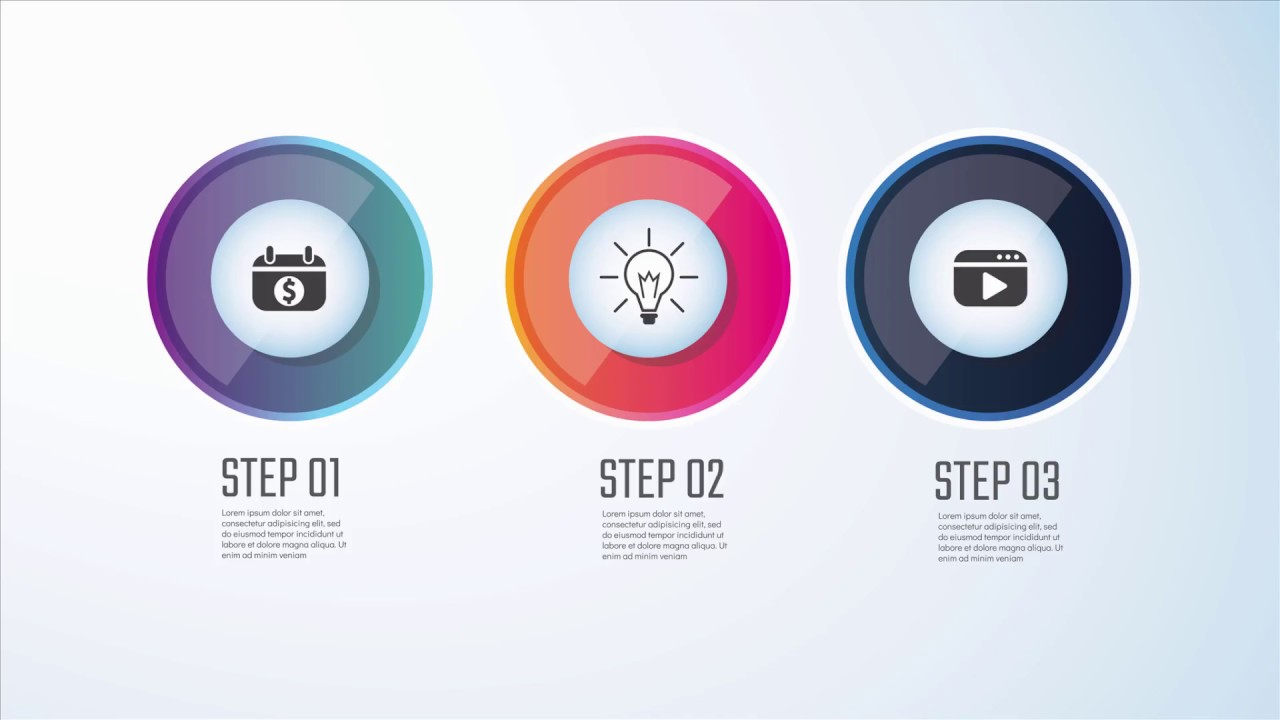 Infographic tutorial illustrator logo