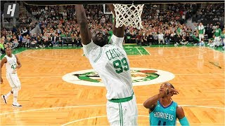 Tacko Fall Dunks For His First Preseason Points vs Hornets | October 6, 2019 | 2019 NBA Preseason