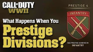 CoD WW2: What Happens When You Prestige Divisions - Max Division Prestige Rewards And Secret Streak