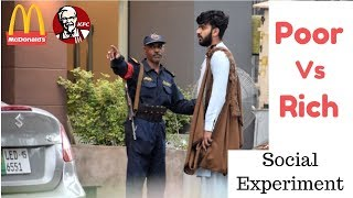 POOR VS RICH IN RESTAURANTS | Social Experiment IN PAKISTAN