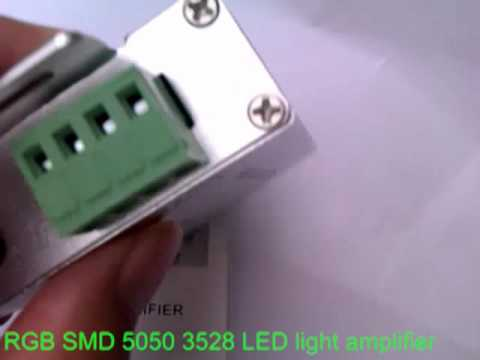 RGB SMD 5050 3528 LED light amplifier.mp4