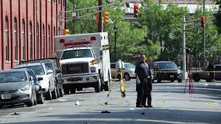 Police investigate mass shooting crime scene