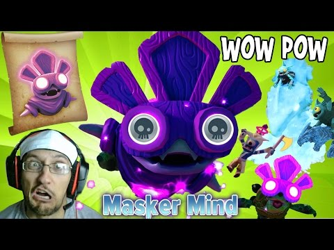 MASKERMIND Undead Villain Gameplay + Tidal Wave Gill Grunt Wow Pow (Skylanders Trap Team Toys)