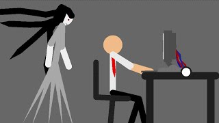 Midnight Office - Stickman Horror Animation