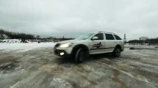 Skoda Octavia Scout on Mita snow chains