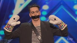 America's Got Talent 2016 Tape Face Incredibly Inventive Comedy Act Full Audition Clip S11E01