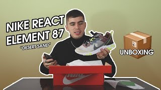 "SNEAKERS DE PLÁSTICO Y CORCHO | NIKE REACT ELEMENT 87 ""DESERT SAND"" 