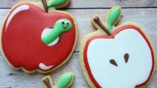 How To Decorate Apple Cookies Using Royal Icing