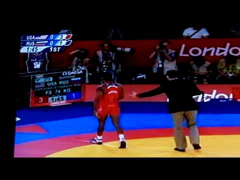 Jordan Burroughs vs Tsargush (2012 Olympic Semis)