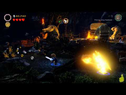 Lego The Hobbit: Level 4 Roast Mutton FREE PLAY (All Minikits, Treasures & Design) - HTG